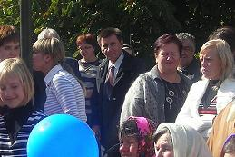 Письменник М.Литвин на святкуванні Дня села у Єлизаветівці 2009 рік